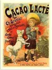 Metal Sign 7 192 Cacao Lacte Chocolate Milk Lucien Lefevre 8 1930 A3 16x12 Alu