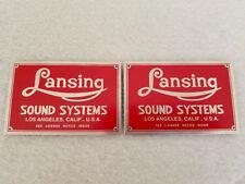 Altec Lansing Iconic Speaker Badges (pair) RED (Listing #2)