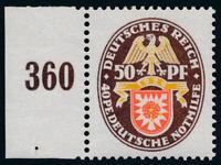 DR 1929, MiNr. 434 I, tadellos postfrisch, Fotobefund Schlegel, Mi. 600,-