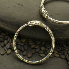 Oxidized Ouroboros Snake Sterling Silver Ring - Solid 925 - Size 7