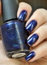 OPI ~YOGA-TA GET THIS BLUE!~ Dark Navy Blue Shimmer Nail Polish Lacquer .5oz I47