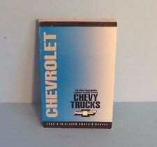 94 1994 Chevrolet S-10 Blazer owners manual