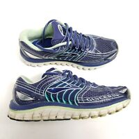Brooks Glycerin 12 Womens Running Shoes Navy Blue Green White Womens Size 7