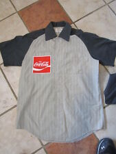 Vintage 1970's Coca-Cola / COKE Striped Workers Shirt / Short Sleeved