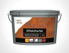 2,5l Effektfarbe Wandfarbe Rost-Optik Design Kupfer rost braun modern elegant