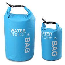 2/5L Waterproof Dry Bag Canoe Rafting Floating Kayaking Water Sports Storage Bag