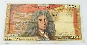 billet 500 Francs Moliere très très Rare état voir photos réelles