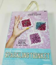 Do It Yourself Sparkling Trinket Trays Includes Everything You Need! NEW IN BOX
