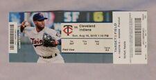 Minnesota Twins Vs Cleveland Indians 8/16/15 Ticket Stub