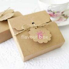 10x Kraft Cookie Boxes - Macaron Chocolate Wedding Bomboniere Baby Shower Favour