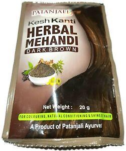 Swami Ramdev Patanjali UK Divya Kesh Kanti Herbal Hair Mehandi Dark Brown 20g