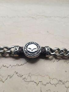 Harley davidson Edelstahl Armband Magnetverschluss Totenkopf Dyna forty v2 fat