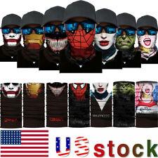 Super Hero Joker Bandana Neck GaiterTube Face Mask Scarf Headhand Biker Scarf