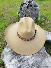 Stetson 4 XXXX American Buffalo Tan Beige Cowboy Hat sz 7 100% Wool