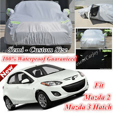Premium Car Cover Double Thick Waterproof Side Entry for Mazda 2 Mazda 3 Hatch