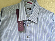 "Paul Smith LONDON Formal LS Classic Stripe Shirt  - Size 17 / 43  - p2p 22.5"""