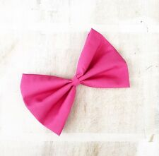 "Barbie pink hair bow on clip 6"" Pin up - Kawaii"