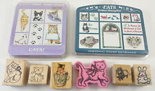 Rubber Stamp Lot of 22 Scrapbooking Cat Meow Bunny Delafield All Night Media