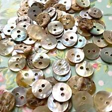 30 natural mother of pearl delicate buttons 10mm - See offer! x