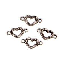 10 Perles connecteur Entre-deux _ COEUR 16x9mm _ Apprêts créat bijoux - A051 g