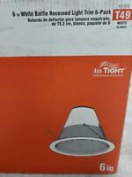 Commercial Electric 6 in. Baffle Recessed Light Trim (6-Pack) T49