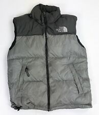 Vintage 90s The North Face Men's Puffy Puffer Down 700 Vest Gray/Black Medium