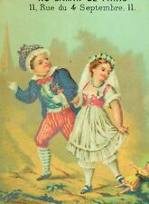 1870's-80's Au Gamin De Paris, Lovely Kids Doll Victorian Trade Card F86