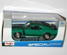Maisto - 1970 FORD MUSTANG BOSS 302 (Green) Scale 1:24