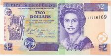 Belize - 2 dollars 2005 UNC Pick 66b