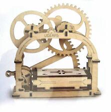 Wooden Mechanical Business Box Model Desktop Decor Toy Moving Wood Gears