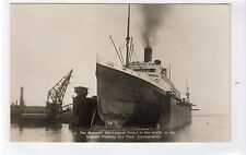 R.M.S. MAJESTIC: White Star Line shipping postcard (C18929)