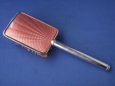 Vintage Art Deco 1930s Metal Brush Pink Engine Turned Decoration Made in England