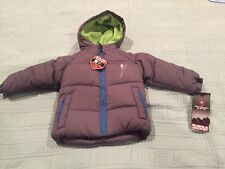 New Winter Jacket - Gray Puffy Jacket - Fleece Lining Inside - 12 Months