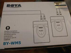 BOYA BY-WM5 Studio Wireless Lavalier lapel Microphone for Camera long distance