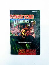 Donkey Kong Country Super Nintendo SNES Instruction Manual Booklet ONLY