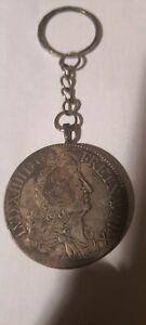 Porte clé Pièce de Monnaie Écu - Louis XIV 1785