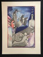 Pit Morell, Schneckengang, Farblithographie, 1969, handsigniert und datiert