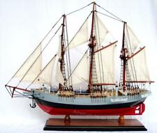 "Fram Norwegian Antarctic Exploration Ship Model 24""- Handmade Wooden Ship Model"