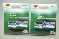 Kenko 62mm ND4 and ND8 filters- sold as a set.