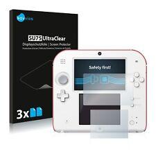 6x Displayschutzfolie für Nintendo 2DS Schutzfolie Klar Folie Displayfolie