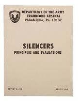 """Manual """"Silencers"""" Department of the US Army Munitions USMC Vietnam Marines WK2"""