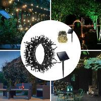 100/200/300/400/500 LED String Solar Powered Fairy Lights Garden Party Christmas