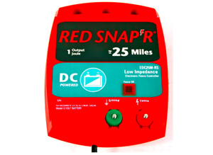 Red Snap'r 25-Mile DC Low Impedance Fence Charger