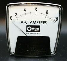 Ge Ac 10a Analog Ammeter Panel Mount Pointer Amp Current Meter Gauge
