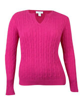 Charter Club Women's V-neck Cable Knit Sweater