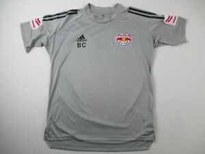 New York Red Bulls adidas Jersey Men's Gray Poly Used Multiple Sizes