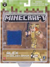 NEW Minecraft Alex In Golden Armor Figure Pack Series 4 - Jazwares