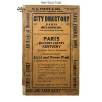 Original City Directory 1935, Paris, Kentucky, Segregation, Colored List