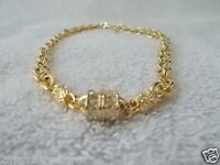 Kirks Folly Designer Jewelry Necklace Goldtone Chainlink White stone Beads 8 in