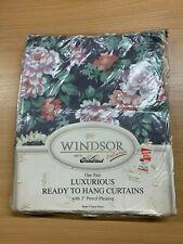"""Rideaux (48 X 66 """") Neuf """" Windsor Floral Coton Mélange Prêt à Accrocher"""